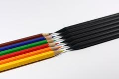 черный цвет против Стоковая Фотография RF