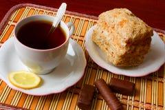 черный чай десерта Стоковое фото RF