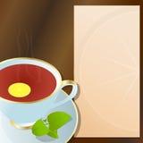 черный чай чашки Стоковые Изображения