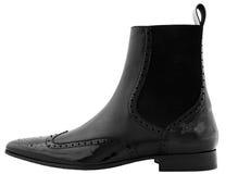 черный человек s ботинка Стоковые Изображения RF