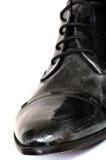 черный человек s ботинка Стоковые Изображения
