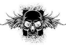 Черный череп splatter Стоковое Фото