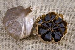 Черный чеснок Стоковая Фотография