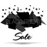 Черный шаблон дизайна надписи продажи пятницы Черное знамя пятницы также вектор иллюстрации притяжки corel Стоковые Изображения RF
