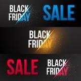 Черный шаблон знамени Exlosion вектора продажи пятницы Огромный ноябрь Стоковое Изображение RF