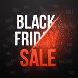 Черный шаблон плаката Exlosion вектора продажи пятницы Огромный ноябрь Стоковые Изображения RF