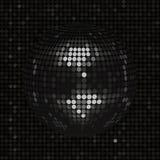 Черный шарик диско на черной предпосылке мозаики Стоковые Изображения RF