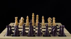 черный шахмат Стоковое Изображение