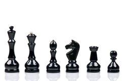 черный шахмат Стоковые Изображения RF