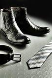 черный шикарный кожаный тип Стоковое Изображение
