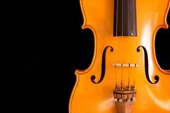 черный шкафут скрипки Стоковая Фотография