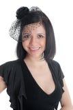 черный шлем девушки стоковые изображения rf