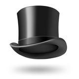 Черный шлем джентльмена иллюстрация штока