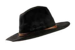 черный шлем ковбоя Стоковое Изображение