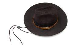 черный шлем ковбоя Стоковое Изображение RF