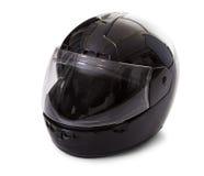 Черный шлем мотоцикла Стоковые Фотографии RF