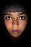 Черный шнурок для африканской женщины Стоковое Изображение
