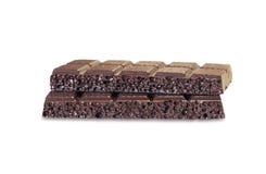 черный шоколад пористый Стоковые Фотографии RF
