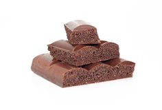 черный шоколад пористый стоковое изображение