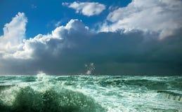 черный шторм моря Стоковые Фотографии RF