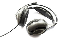 Черный шлемофон Стоковые Фото