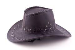 Черный шлем ковбоя Стоковые Фотографии RF