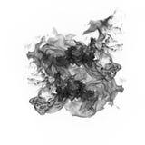 Черный дым на белой предпосылке Стоковая Фотография RF