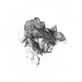Черный дым на белой предпосылке Стоковая Фотография