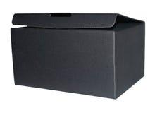 Черный ящик на белой предпосылке Стоковая Фотография RF