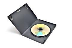 Черный ящик при writable изолированная внутренность диска DVD Стоковое Изображение RF