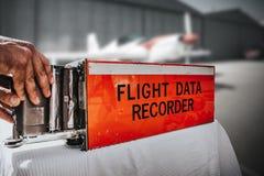 Черный ящик самолета воздуха стоковые изображения rf