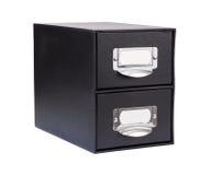 Черный ящик файла картона Стоковые Изображения