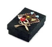 Черный ящик шелковицы бумажный Стоковые Изображения RF