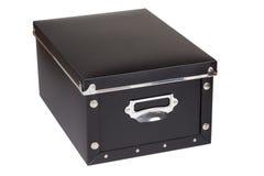 Черный ящик для хранения Стоковая Фотография
