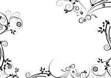 черный декоративный орнамент цветка Стоковые Фото