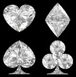 черный диамант карточки над форменными костюмами Стоковое Изображение