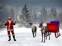 черный claus santa Стоковая Фотография