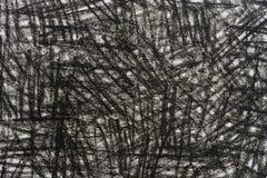 Черный crayon doodles текстура предпосылки Стоковое Фото