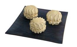 черный cream zephyr тарелки Стоковое Изображение RF