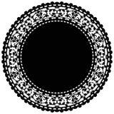 Черный doily Стоковые Фотографии RF
