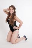 черный swimsuit девушки Стоковое Изображение