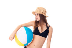черный swimsuit девушки Стоковое фото RF