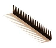 Черный toothed гребень волос Стоковое Изображение RF