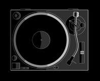 черный turntable Стоковое Фото