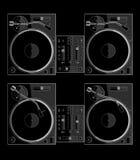 черный turntable c Стоковое фото RF
