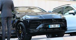 Черный Urus SUV Lamborghini сток-видео