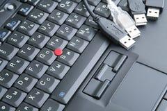 черный usb клавиатуры Стоковые Изображения