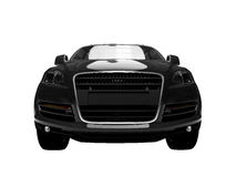черным взгляд автомобиля изолированный фронтом Стоковые Изображения RF