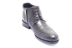 черным зима изолированная ботинком Стоковая Фотография