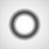 Черным поставленная точки grunge предпосылка круга Стоковые Изображения RF